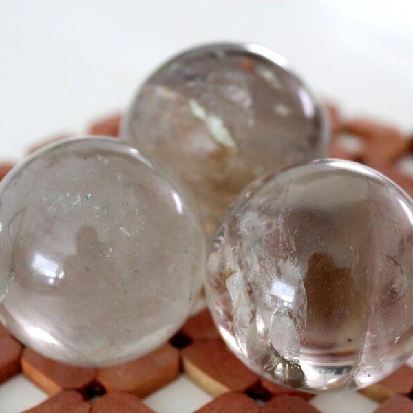 Esferas de Cuarzo Ahumado