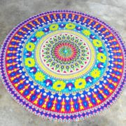 Tapete de Mandala Flores Colores