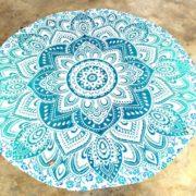 Tapete de Mandala Flor Azul