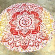 Tapete de Mandala Flor Roja