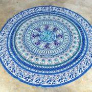 Tapete de Mandala Azul Morado
