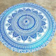 Tapete de Mandala Estrella Azul