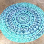 Tapete de Mandala Turquesa